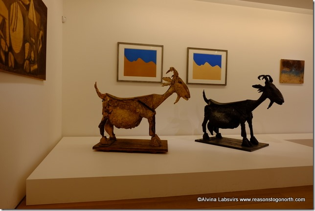 Goats in the Picaso museum
