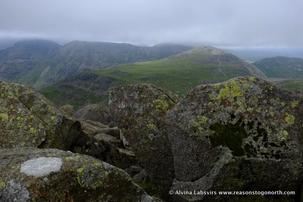 Scafell from Bow Fell