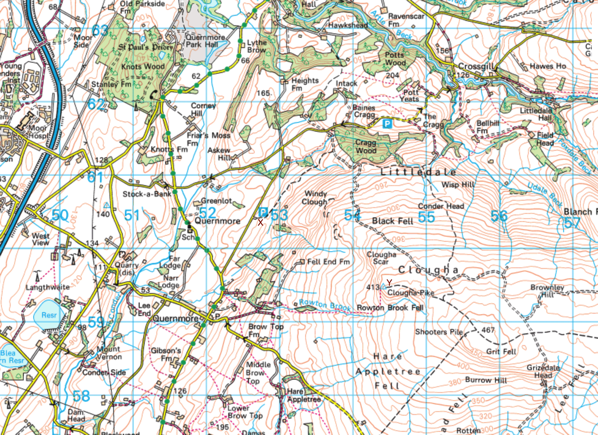 Map of Clougha Pike