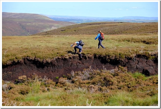 Clambering over peatbog