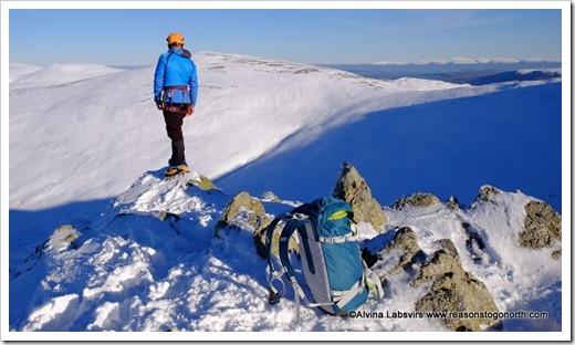 Climber on Helvellyn