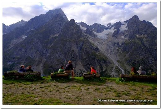 Mont Blanc from Bonatti